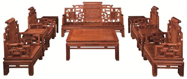 万盛宇红木:缅甸花梨金玉满堂沙发