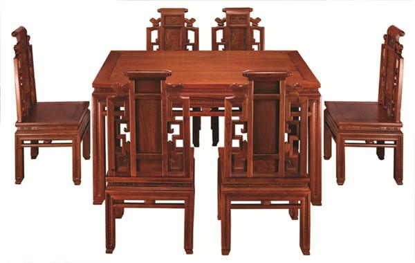 万盛宇红木:缅甸花梨金玉满堂餐台
